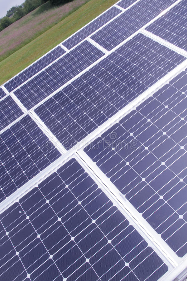 Free Blue Solar Panels Stock Photography - 26974722