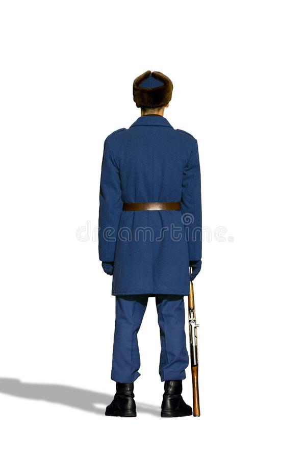 Blue Soldier royalty free stock photo