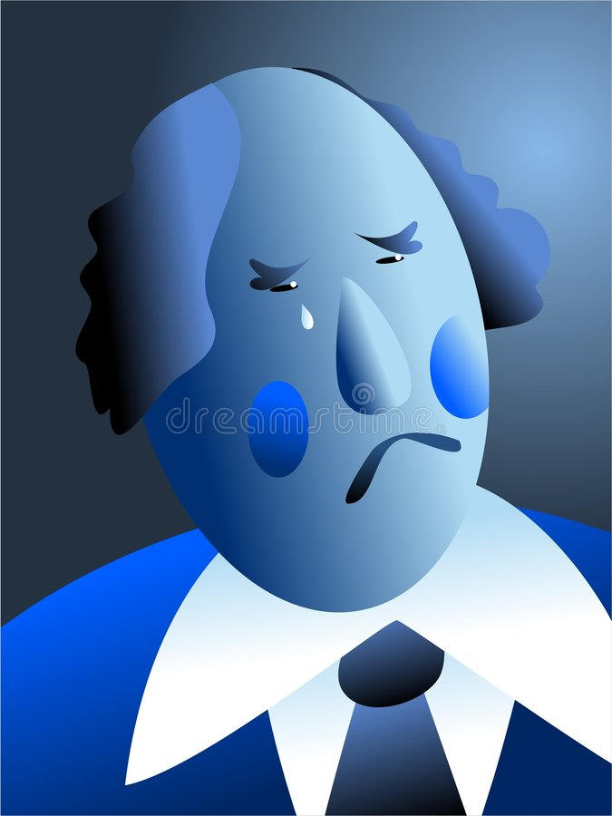 Download Blue with sorrow stock illustration. Illustration of sorrow - 459140