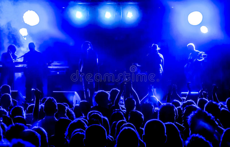Download Blue sound stock photo. Image of festival, night, event - 27885154