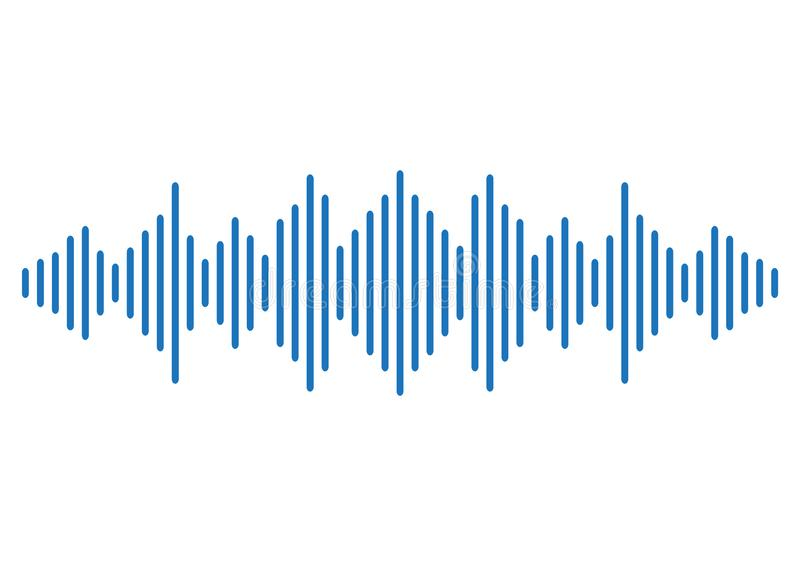 Blue sound wave background. Vector stock illustration