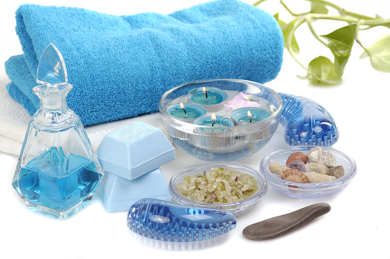 Blue spa royalty-vrije stock foto