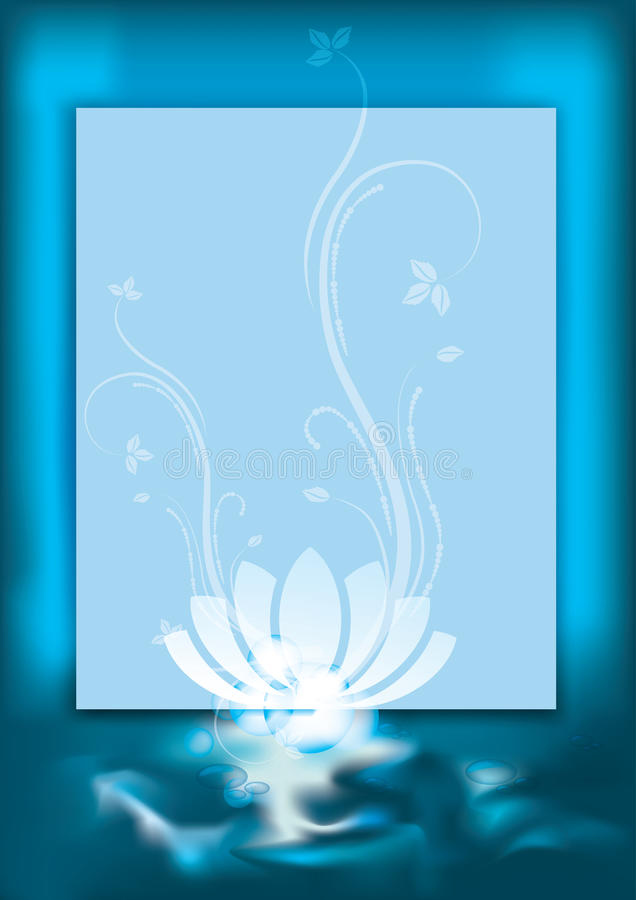 Blue spa achtergrond vector illustratie