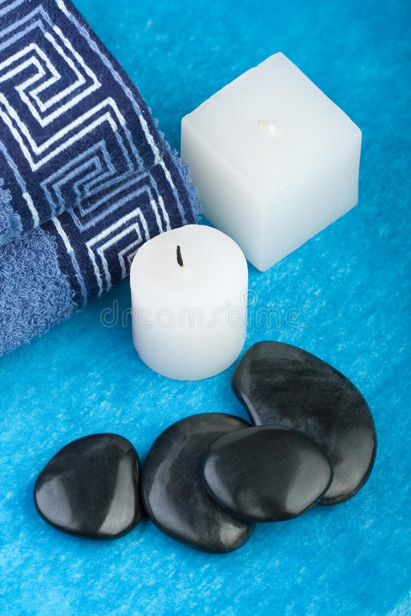 Download Blue Spa Setting Royalty Free Stock Image - Image: 20008646