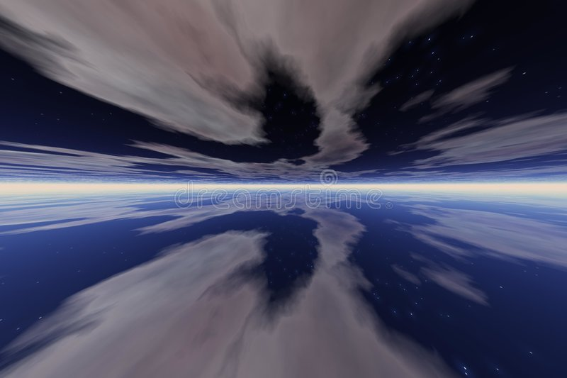 Download Blue space stock illustration. Image of clouds, space, yoga - 890496