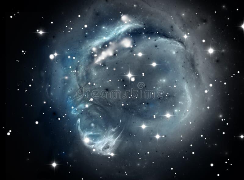 Blue space star nebula royalty free illustration