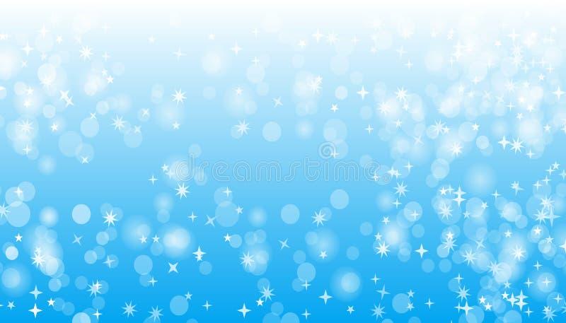 Blue Sparkle Vector Background Design royalty free illustration