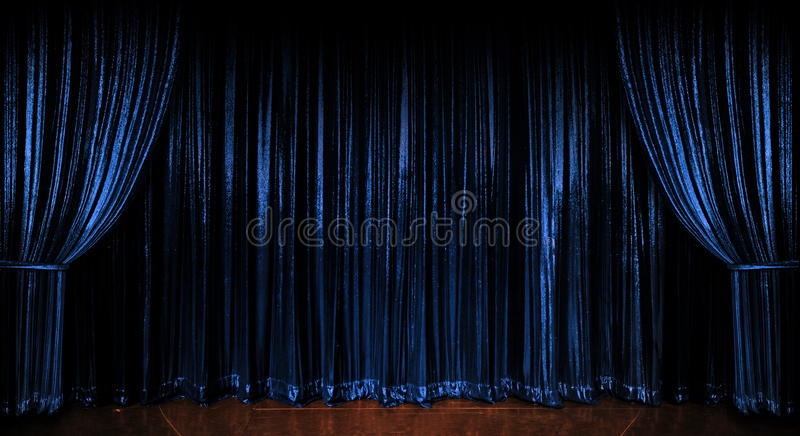 Blue Sparkling Curtains royalty free stock photo