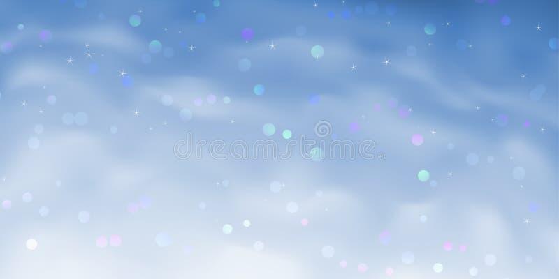 Blue sparkling sky background