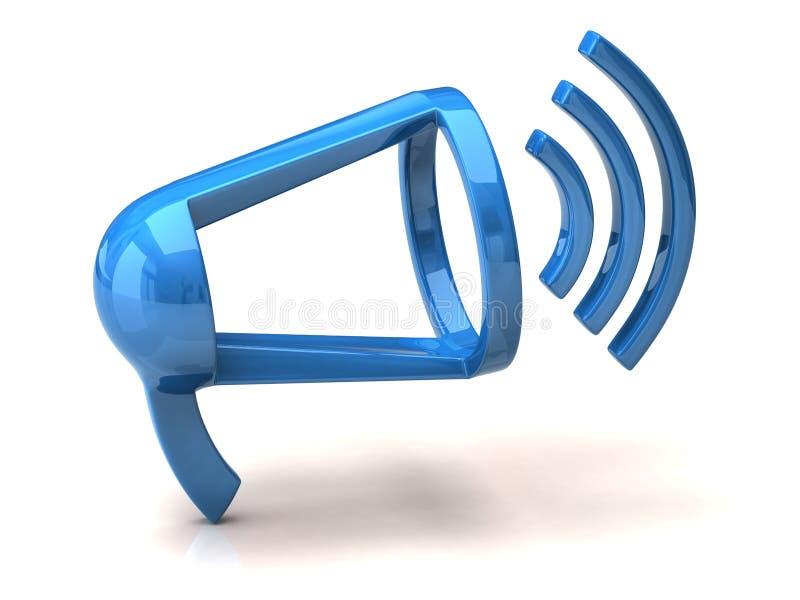 Blue speaker icon vector illustration