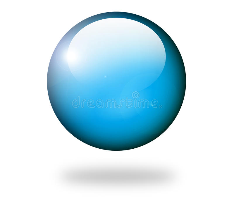Blue sphere stock illustration