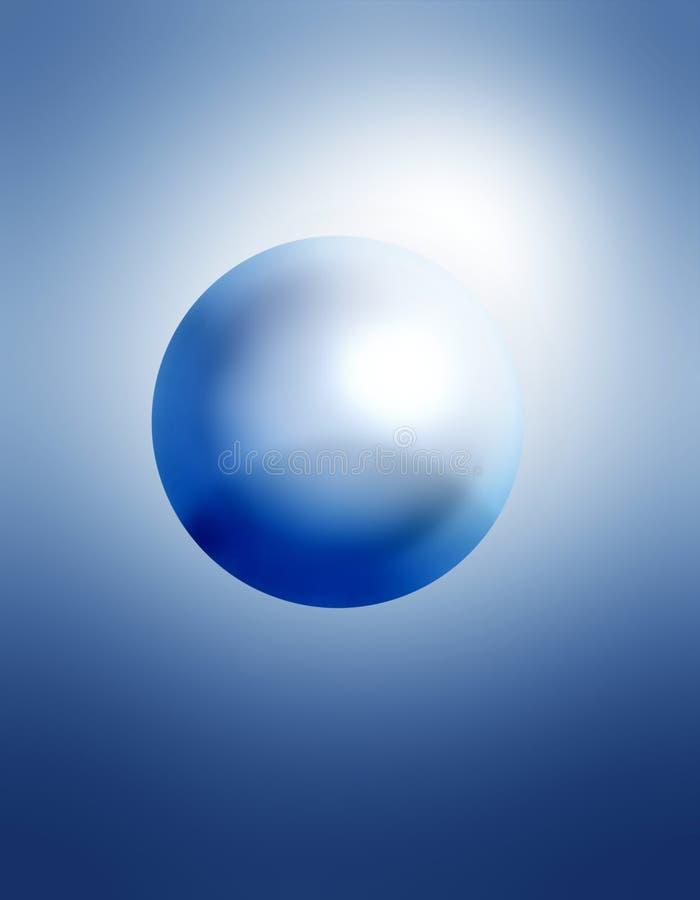 Blue sphere royalty free illustration