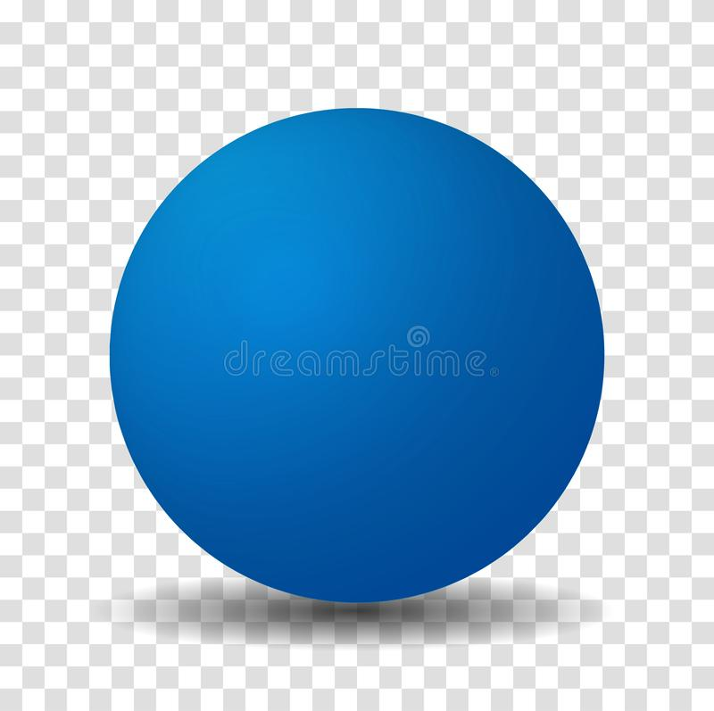 Blue Sphere Ball Isolated royalty free illustration