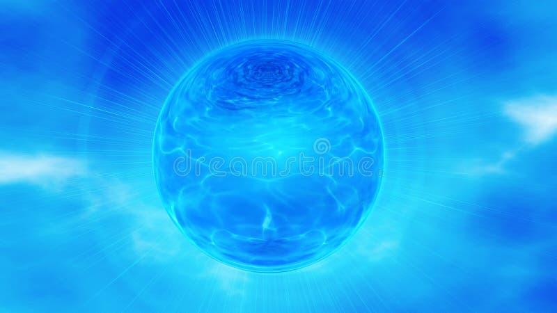 Blue Sphere In Sky Stock Image