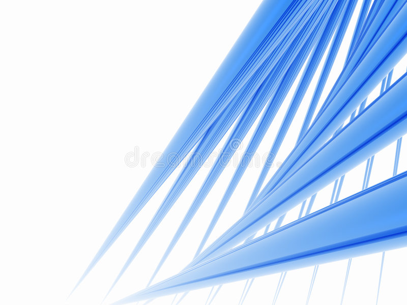 Blue Spikes vector illustration