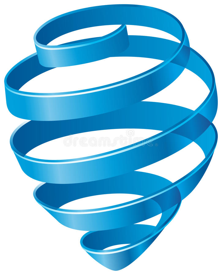 Blue spiral. Abstract blue spiral. Vector image royalty free illustration