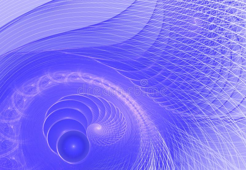 Blue spiral digital art. An abstract computer generated modern spiral fractal element. Pattern for creative art design. Abstract. Form and colors vector illustration