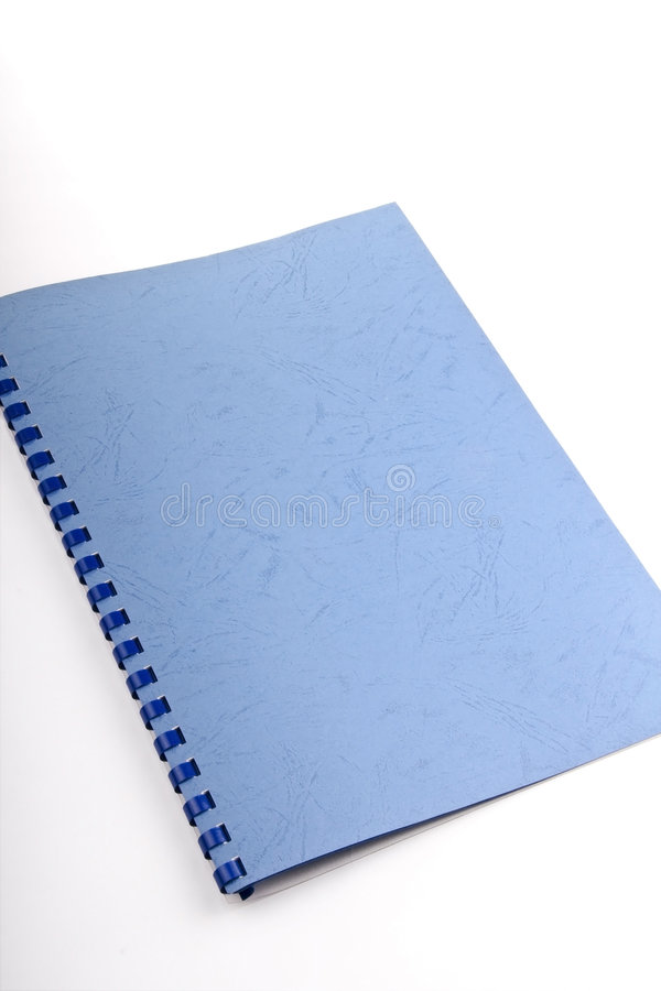 Download Blue spiral notebook stock photo. Image of paper, notepad - 4657160