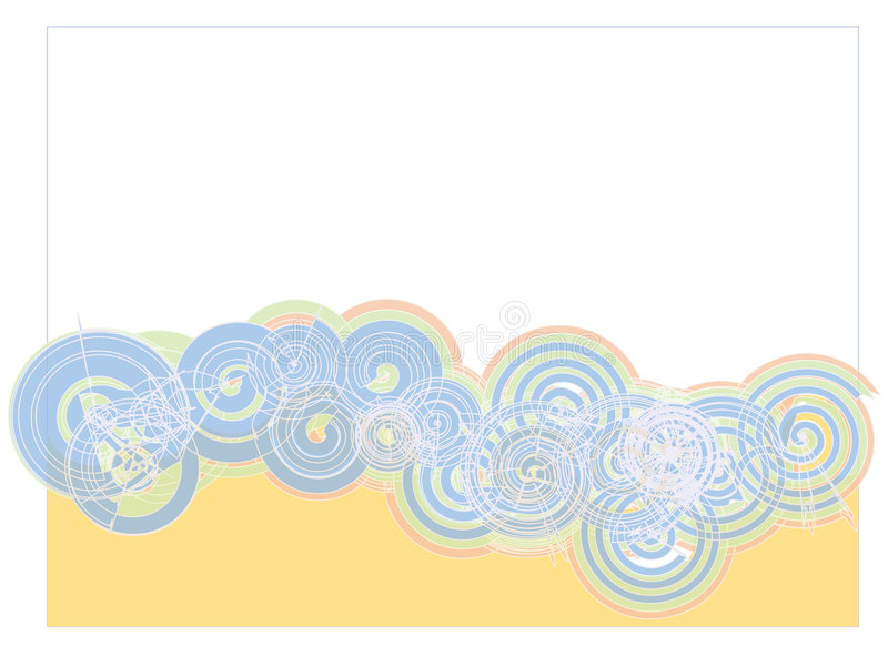 Download Blue Spirals On White Backdrop Stock Vector - Illustration of design, background: 3490745