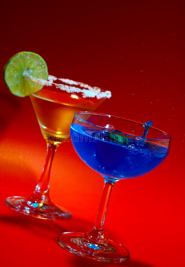Blue splash stock photo