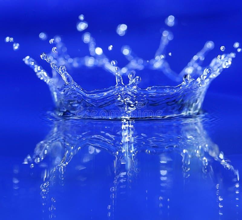 Blue splash stock photos