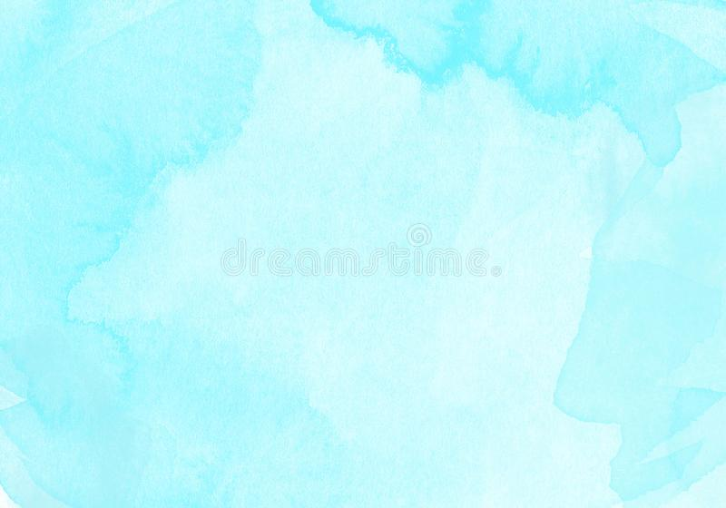 Blue Splash background of Water Color. Splash of light blue watercolor full background or textures with space at the center for insert text in presentation or royalty free illustration
