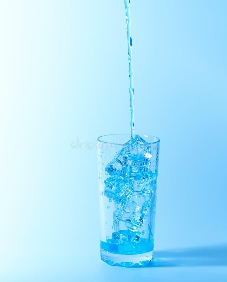 Blue Splash In Glass Royalty Free Stock Image