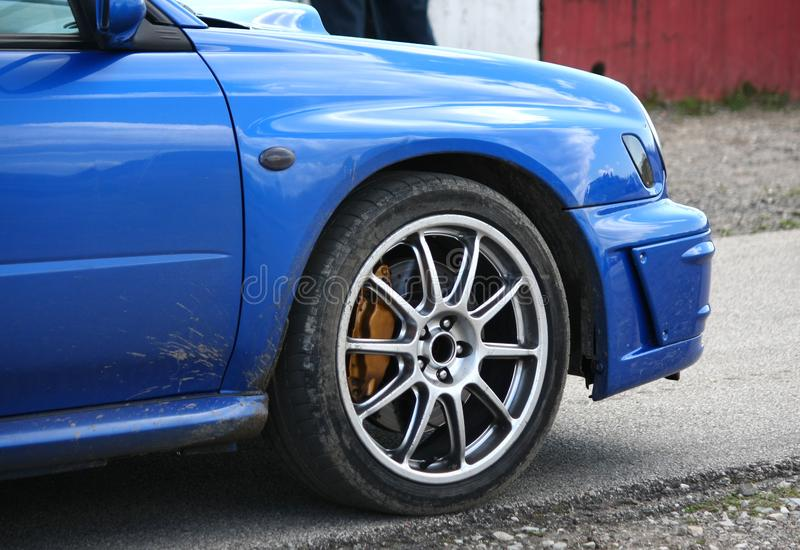 Download Blue sport car stock photo. Image of automobile, turn - 14720924