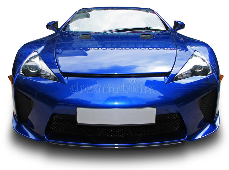 Download Blue sport car stock image. Image of modern, blank, plate - 19944111