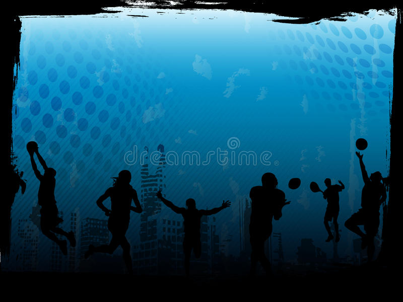 Blue sports background. Vector image of sports atmosphere, best for backgrounds and templates stock illustration