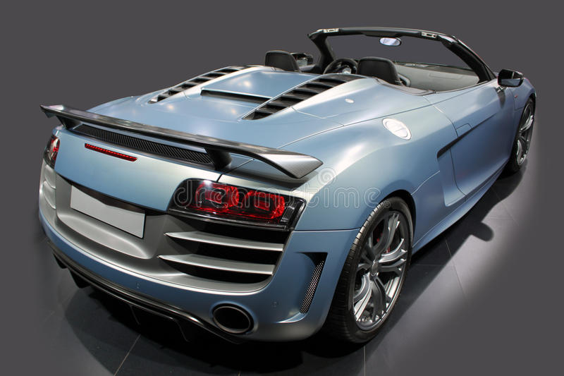 Blue sports cabrio royalty free stock image