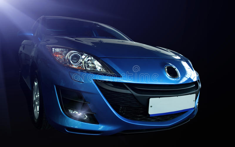Download Blue sports car stock image. Image of fast, sleek, automobile - 10861887