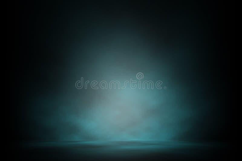 Blue spotlight smoke on stage night entertainment. Blue spotlight smoke on stage night entertainment background stock image
