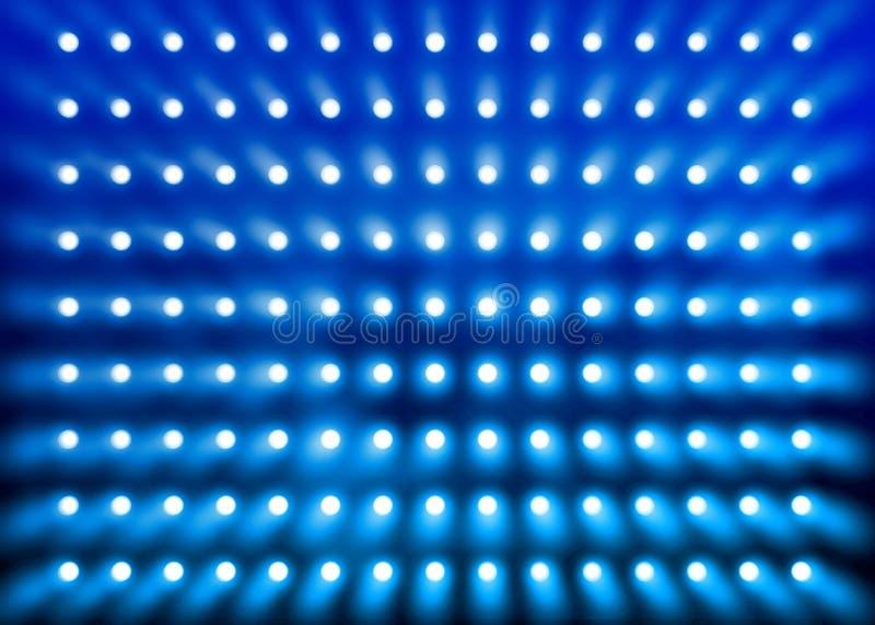 Blue spotlight wall royalty free stock image