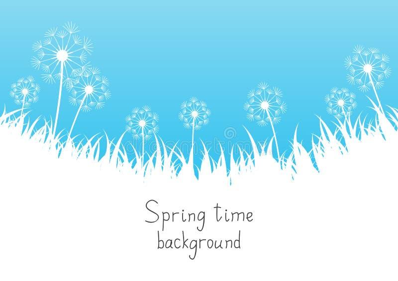 Blue spring background vector illustration