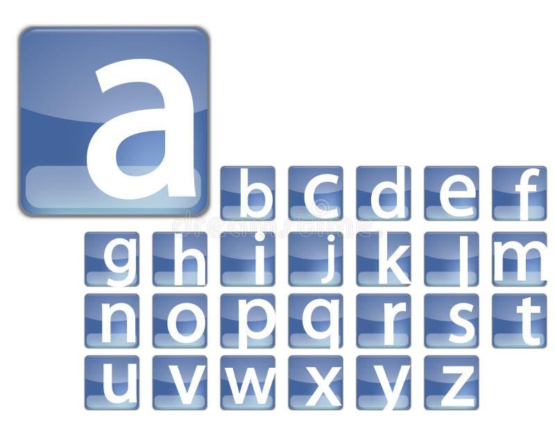Download Blue square alphabet stock illustration. Image of square - 17462187