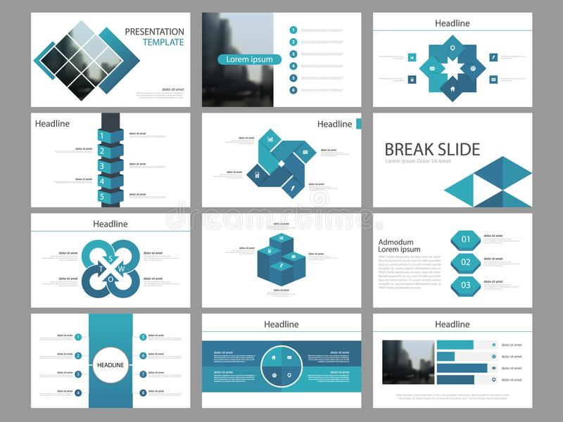 Blue square Bundle infographic elements presentation template. business annual report, brochure, leaflet, advertising flyer,. Corporate marketing banner stock illustration