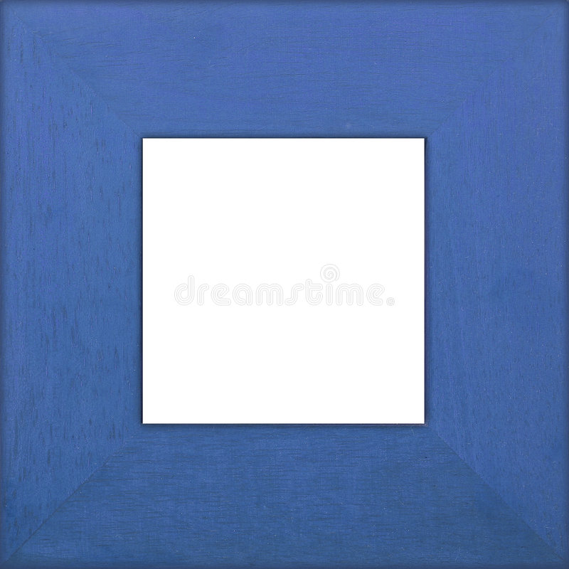 Blue Square Frame stock images