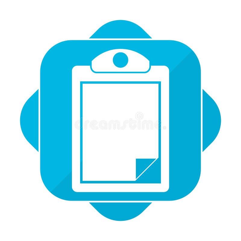 Blue square icon clipboard vector illustration