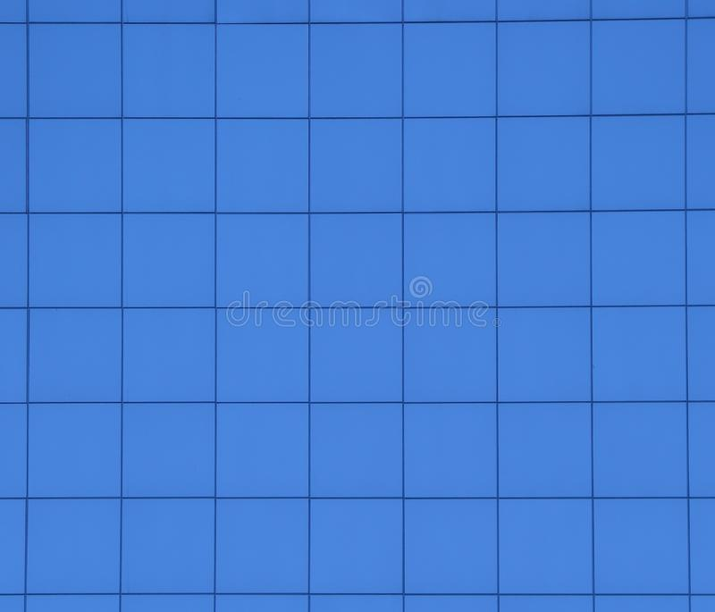 Blue square tiles stock image