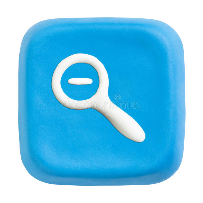 Download Blue Square Zoom Out Key. Clipping Paths Stock Image - Image of icon, design: 14166337