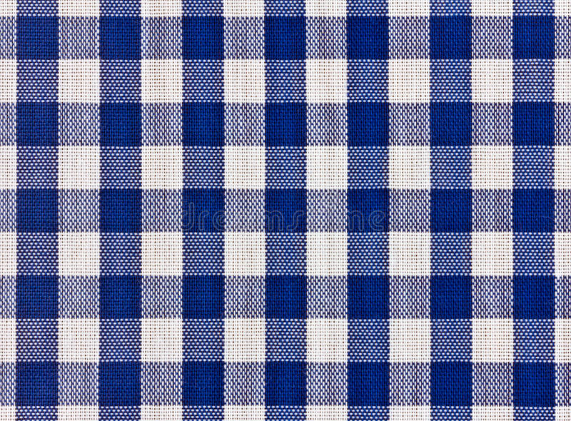 Blue squared tablecloth