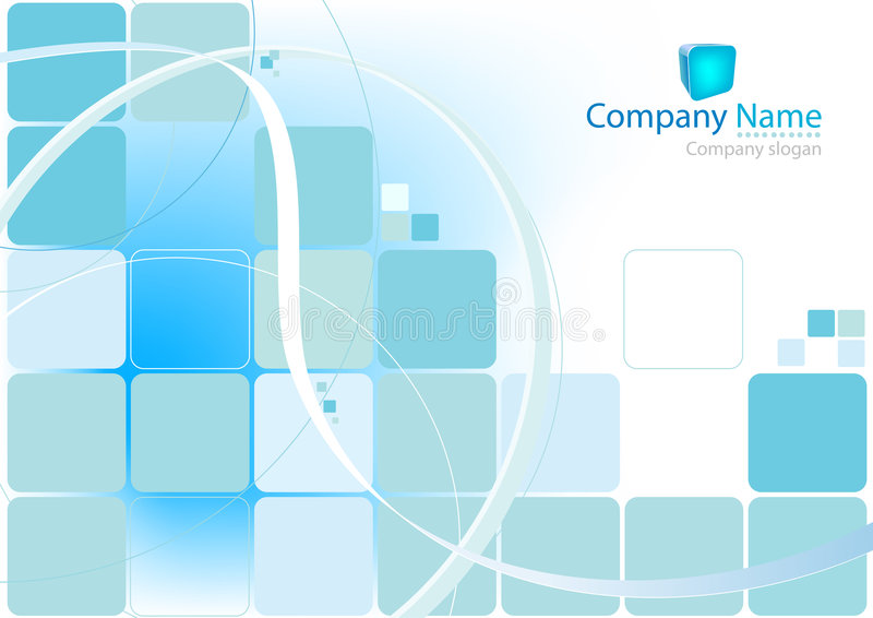Blue squares background stock illustration