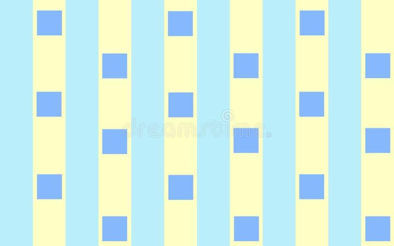 Blue Squares On Stripes Stock Image