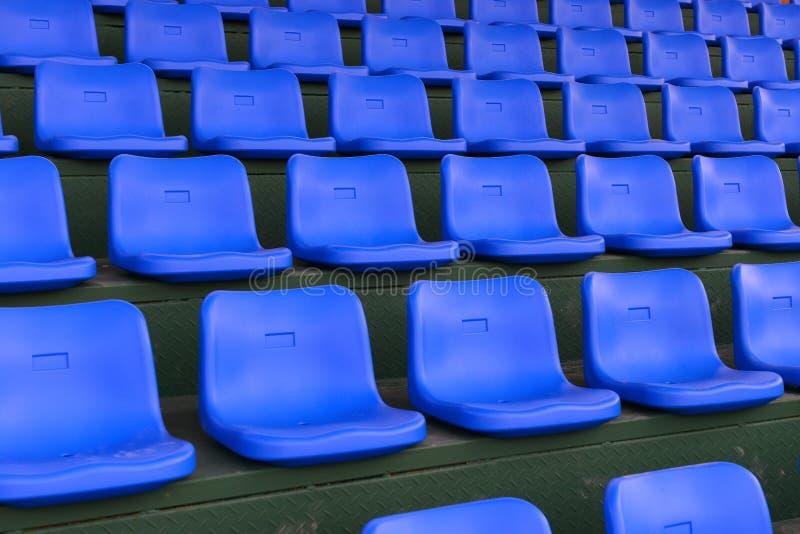 Blue stadium seats royalty free stock image