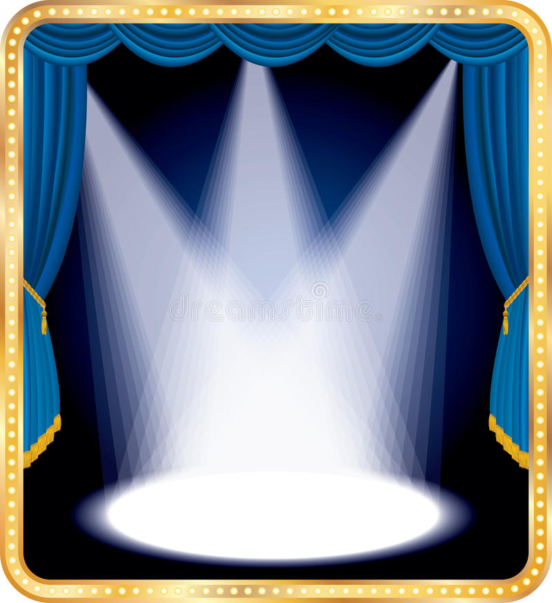 Download Blue stage spots stock vector. Image of casino, light - 20513076