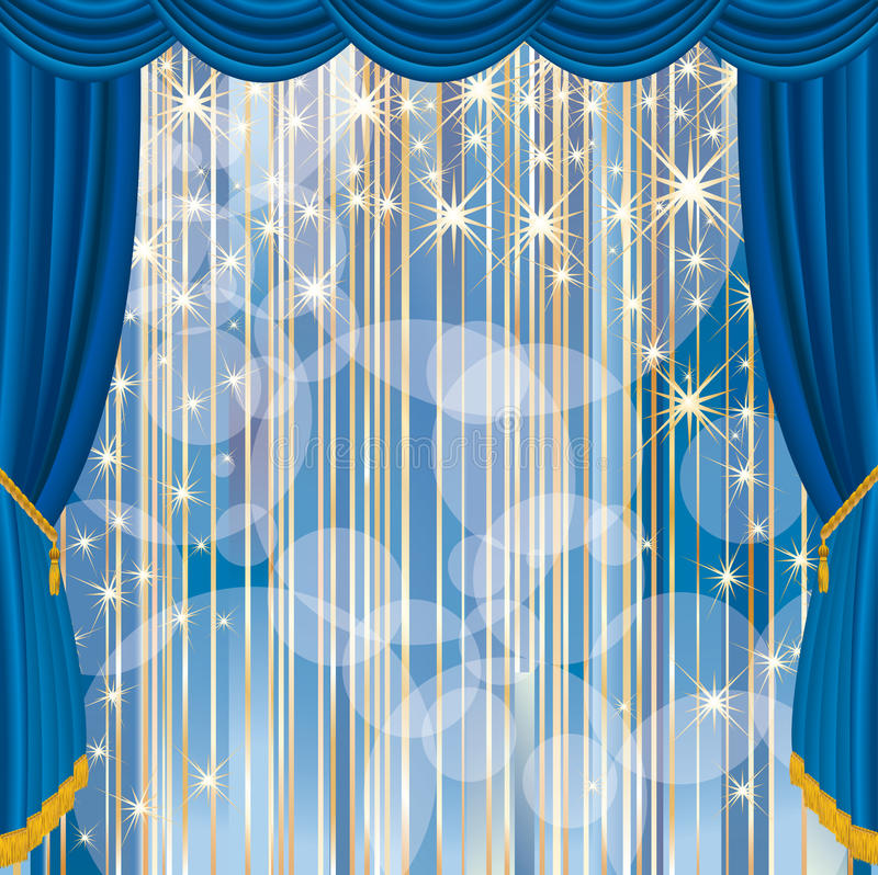 Download Blue stage stripped stock vector. Illustration of drama - 22740248