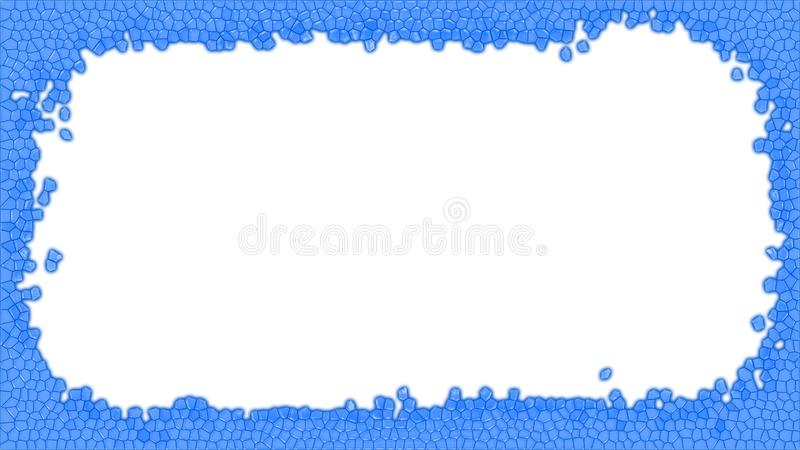 Blue Stained glass frame illustration stock image