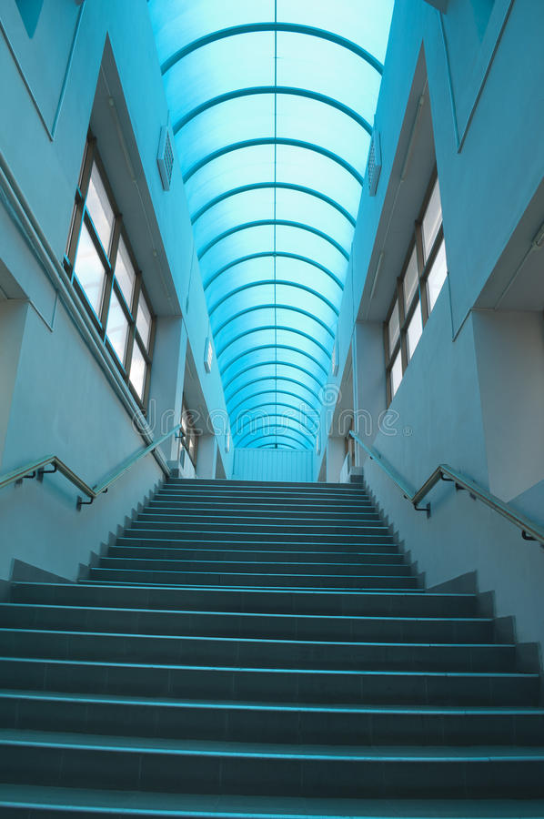 Blue staircase vertical royalty free stock photo