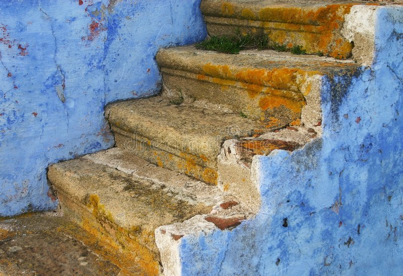 Download Blue stairs stock image. Image of village, architecture - 2091843